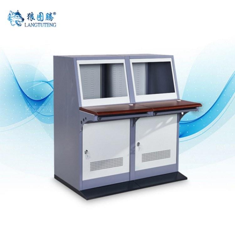 双联琴台监控机柜电视墙拼装 四川狼图腾监控操作台.