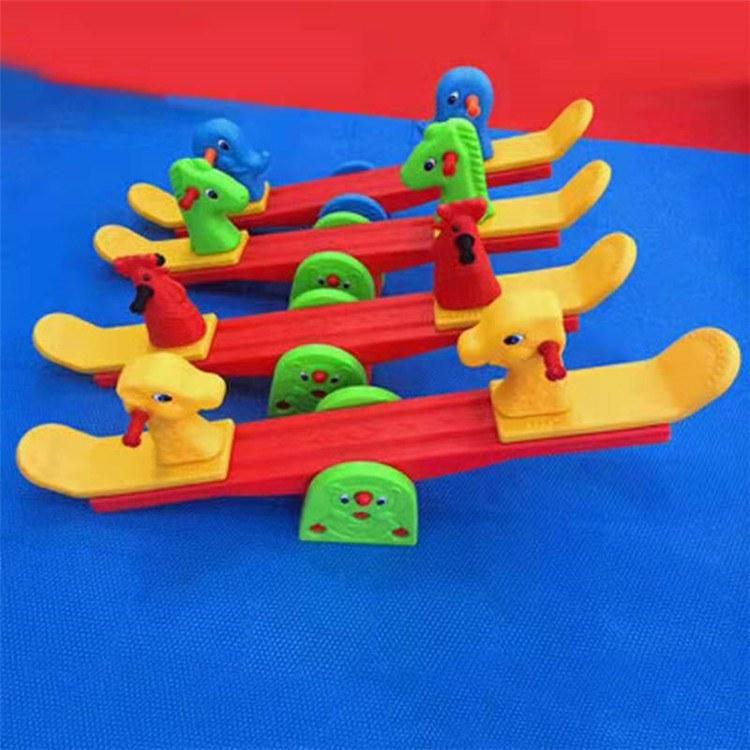 幼儿园玩具  儿童益智玩具 儿童四人龙车 双人跷跷板博康厂家