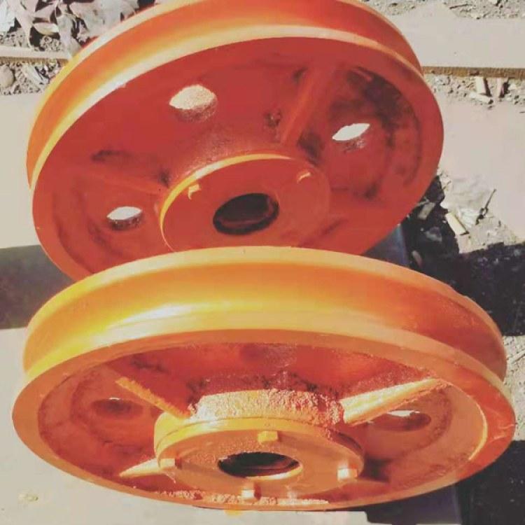 兴达矿山厂家生产悬吊天轮 矿用绞车天轮