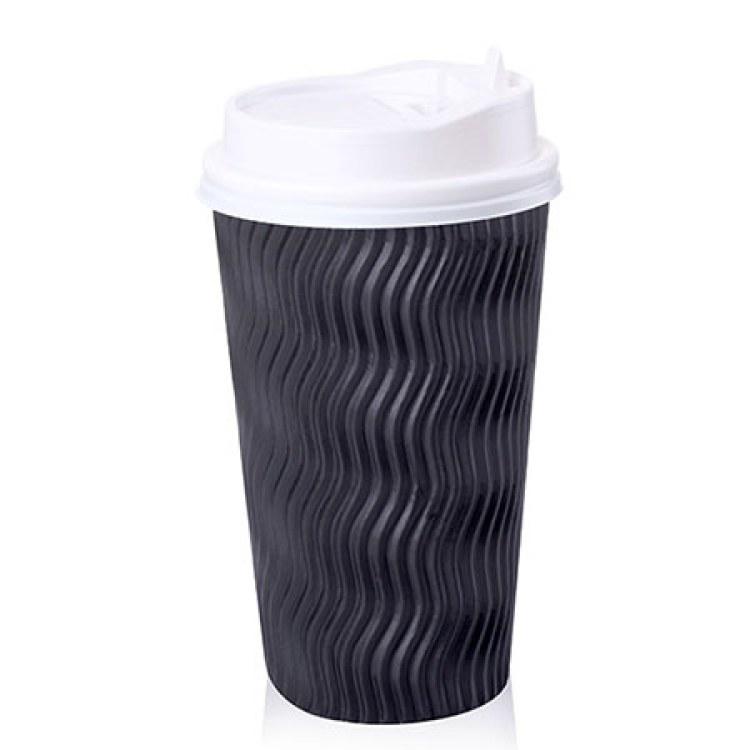 16盎司 500ML 瓦楞杯 一次性纸杯 豆浆杯 咖啡纸杯 奶茶纸杯 环保纸杯