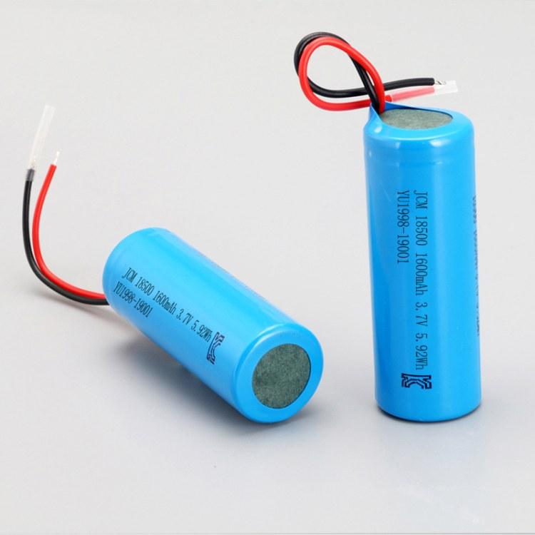 佳创铭18500锂电池 3.7V1600mah充电电池 加保护板出线