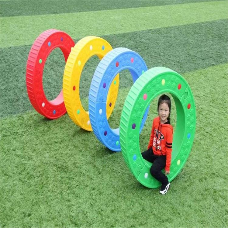 幼儿园玩具  儿童益智玩具儿童滚圈 单元桶跨栏 博康厂家