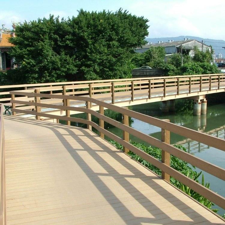 红树林 100*100mm木塑栏杆  定制木塑扶手  安徽地区厂家直销