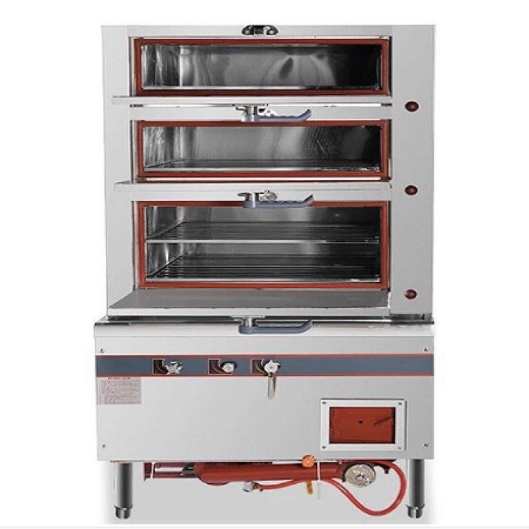 佳诺不锈钢节能环保燃气蒸箱   商用炉具定制