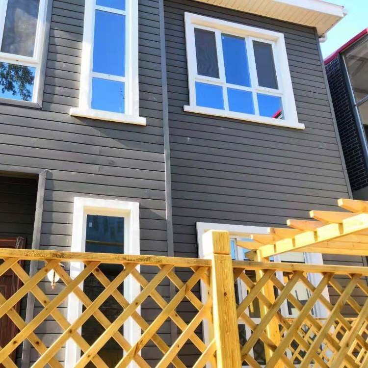 木塑木屋墙板 木塑墙板厂家红树林 木纹外墙装饰板 室外防水耐腐墙面板