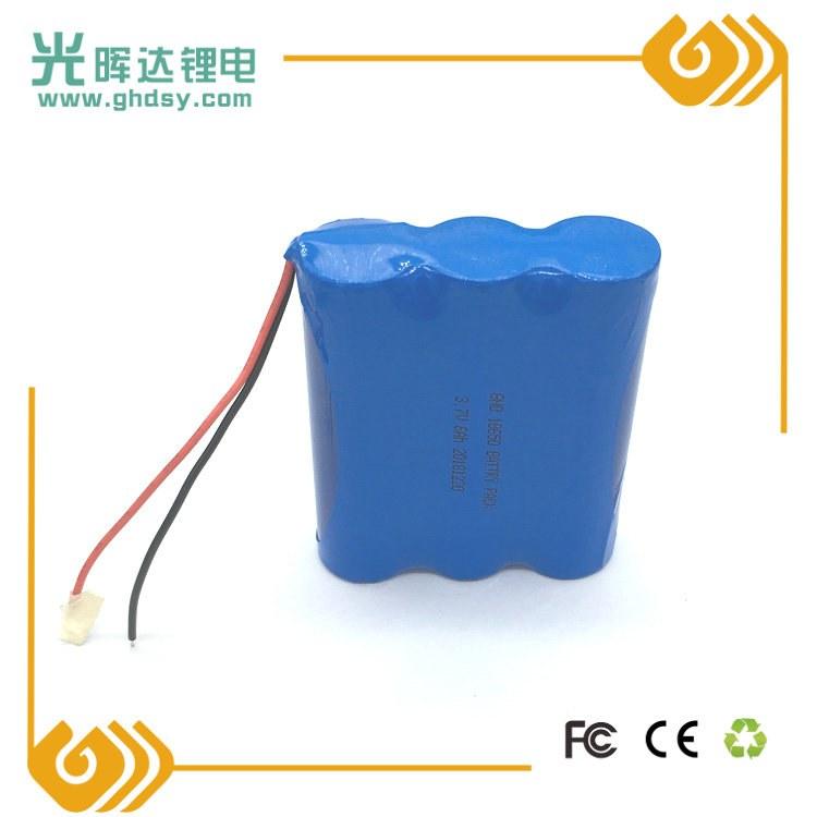 厂家批发 3.7V 18650锂电池串联并联组合加保护板8000mAh电动工具 pos机锂电池组定制