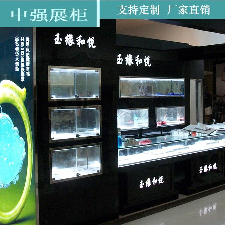珠宝展柜公司 定制欧式服装店玉器钱包精品首饰展示柜 厂家直销 中强
