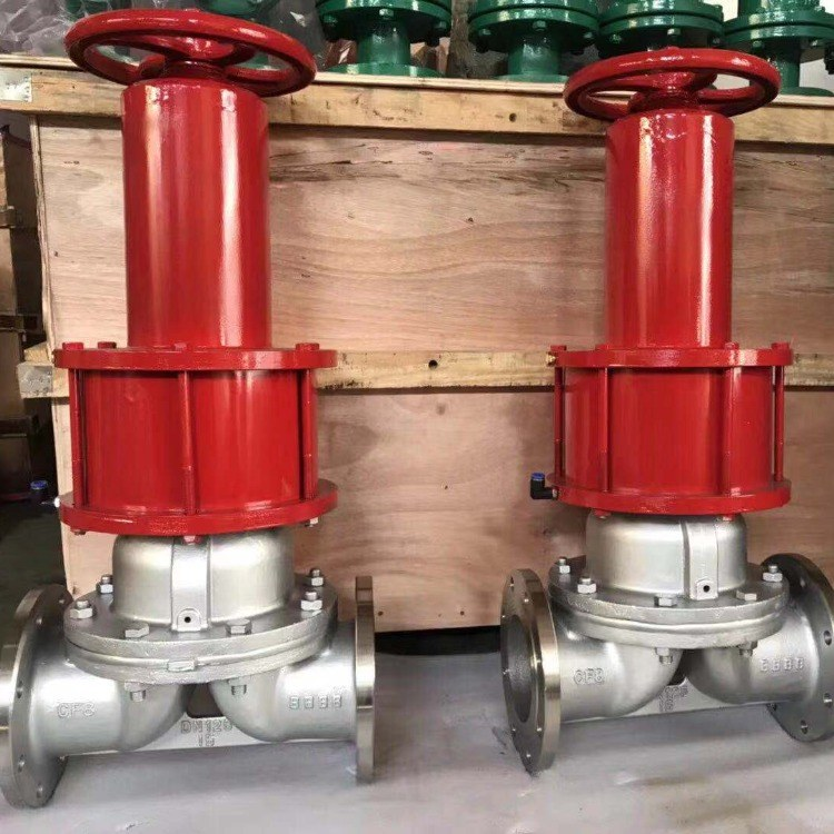 厂家供应 G6K41J-10 常开式气动隔膜阀 铸钢气动衬胶隔膜阀