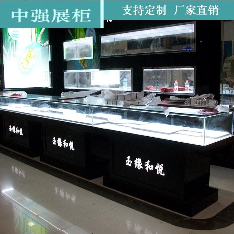 珠宝展柜定制 矮柜饰品柜台首饰玻璃展柜展示柜珠宝柜 厂家直销 中强