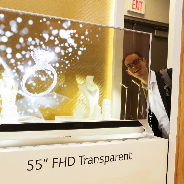 OLED透明屏单屏,整机简约,高端大气
