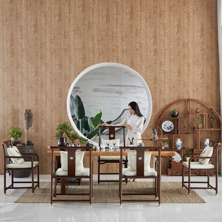 实木茶桌椅组合新中式功夫茶桌简约现代茶台禅意泡茶桌客厅喝茶桌