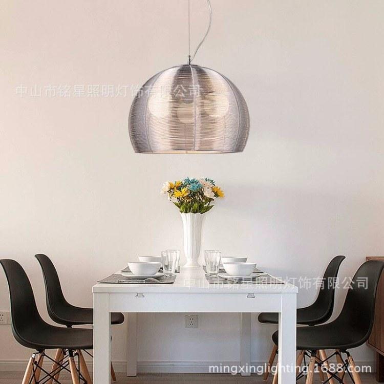 網咖卡座吊燈創意鋁絲編織飾品吊燈意大利設計新款大功率LED燈具