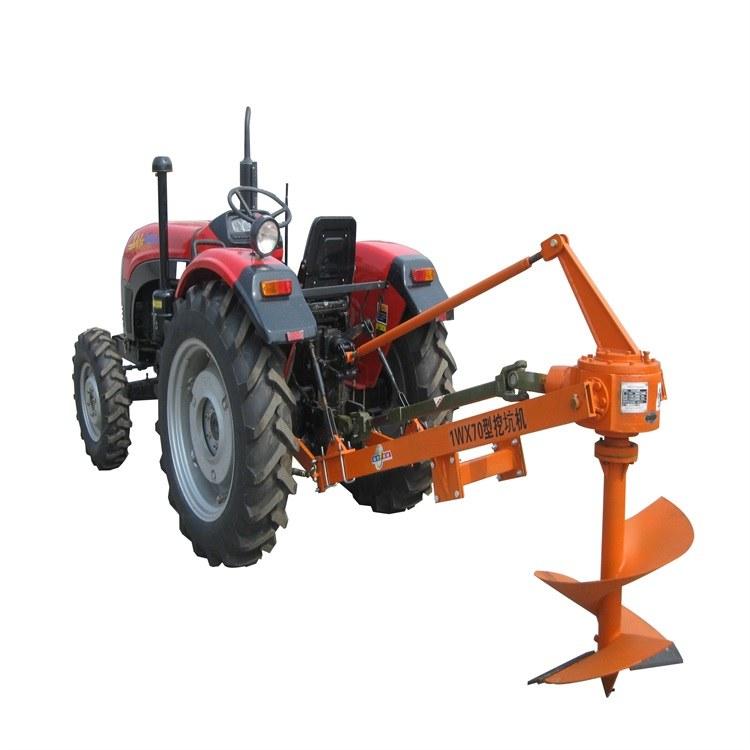 济宁中型车载式挖坑机全国联保大功率园林拖拉机挖坑机厂家