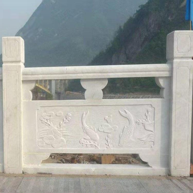 河道石栏板定做加工桥栏板别墅会馆石材护栏建安