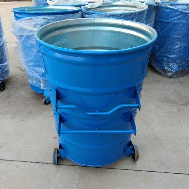 恒洋加工 圆形挂车式垃圾桶 挂车式垃圾桶 厂家直销