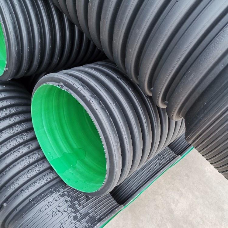 大口径HDPE双壁波纹管 市政专用PE排污管 优质厂家 打孔渗水波纹管