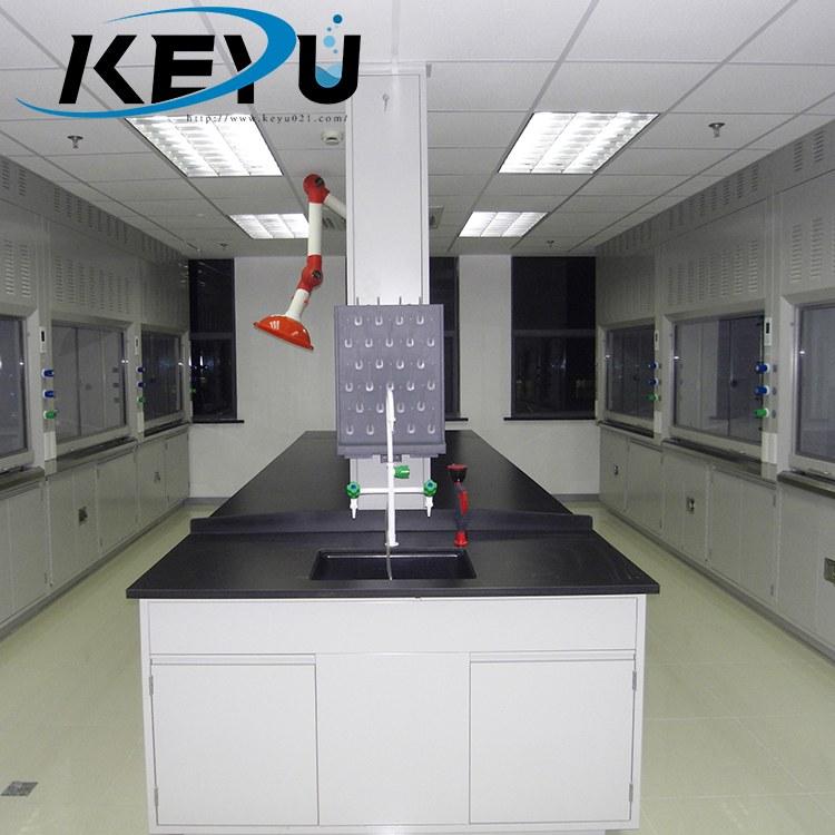 学校化学实验室装修装潢设计 耐酸碱实验台定制厂家-上海轲禹