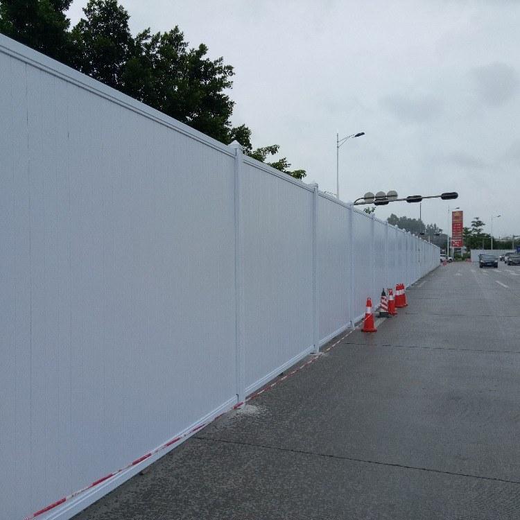 深圳市政要求PVC市政施工围挡加工定制 旭东钢构工地围挡-临建围墙-PVC活动围墙