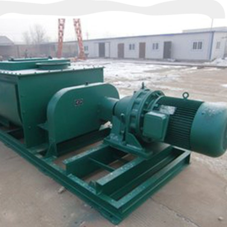 程煤单轴粉尘加湿机 粉尘加湿搅拌机 定制生产除尘设备