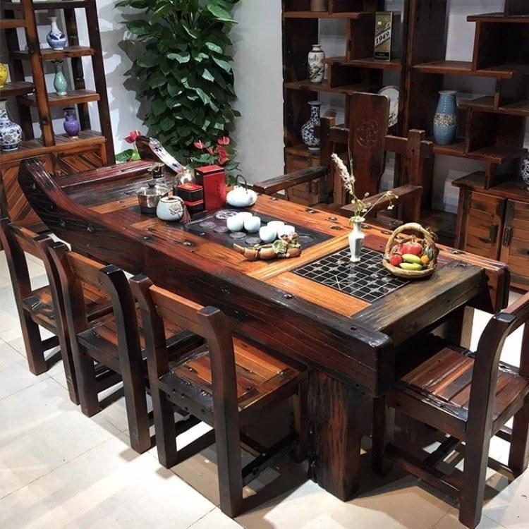 广州船木茶台厂家直销批发   中式船木茶台设计文案