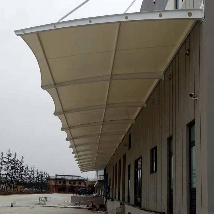 鑫媛-膜结构雨棚厂家--膜结构自行车棚 专业生产