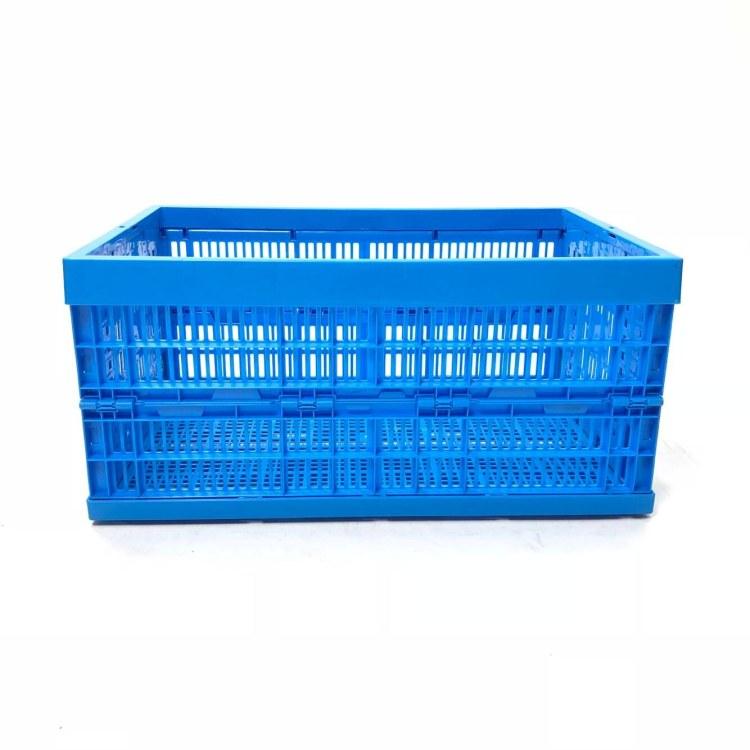 供应600系列折叠塑料周转筐水果筐pp新料环保无味厂家供应