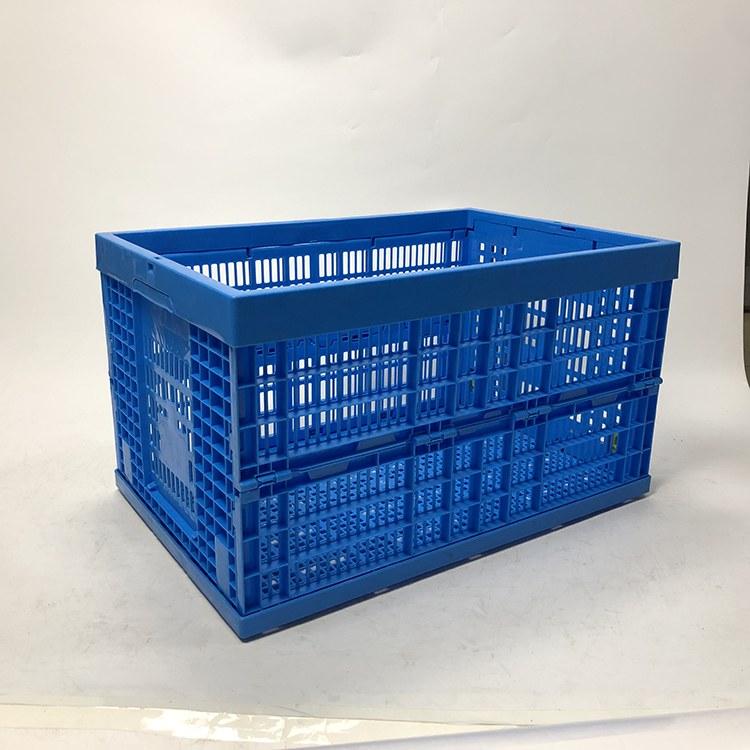 厂家直销折叠筐塑料周转箱镂空蔬菜水果运输筐加厚塑胶盒