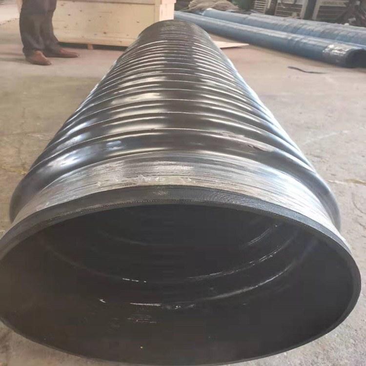 伸缩抽风管柔软易弯曲耐老化伸缩胶管大口径钢丝缠绕波纹管