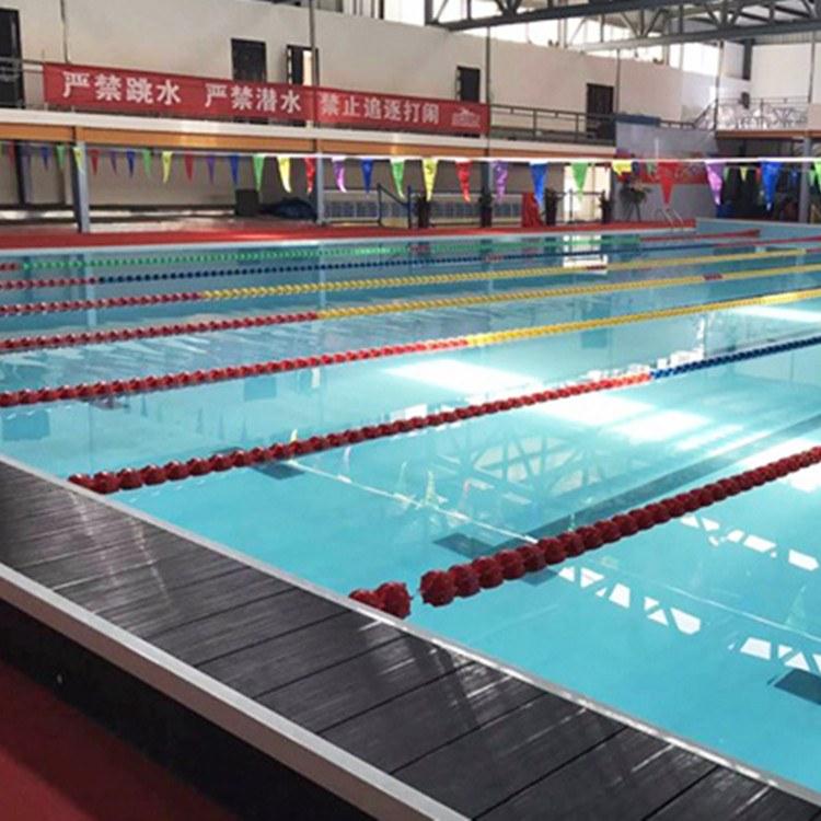 雨洁环保 厂家直销钢结构拼装式支架游泳池恒温游泳池 健身房专业儿童训练泳池
