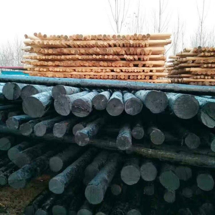 油木杆 防腐油木杆  木质电线杆