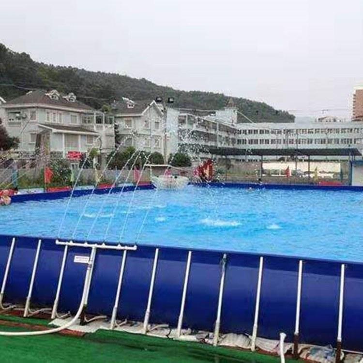 雨洁厂家直销拆卸式支架游泳池  承接专业泳池贴膜工程