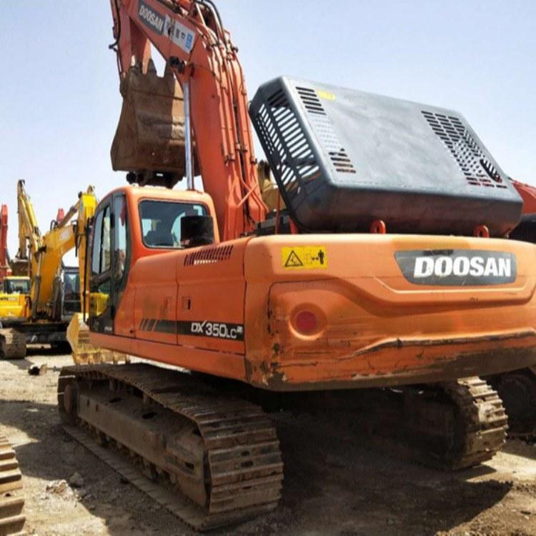 云南二手挖机市场特价供应斗山二手挖掘机DX350大型履带式挖土机