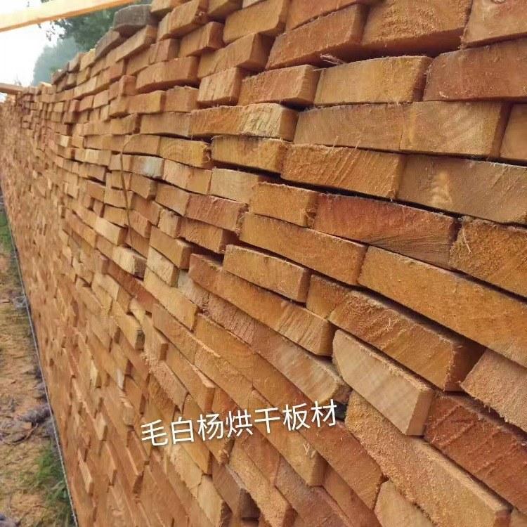 森培 河南烘干毛白杨板材 青杨 白杨木烘干板材 厂家 价格