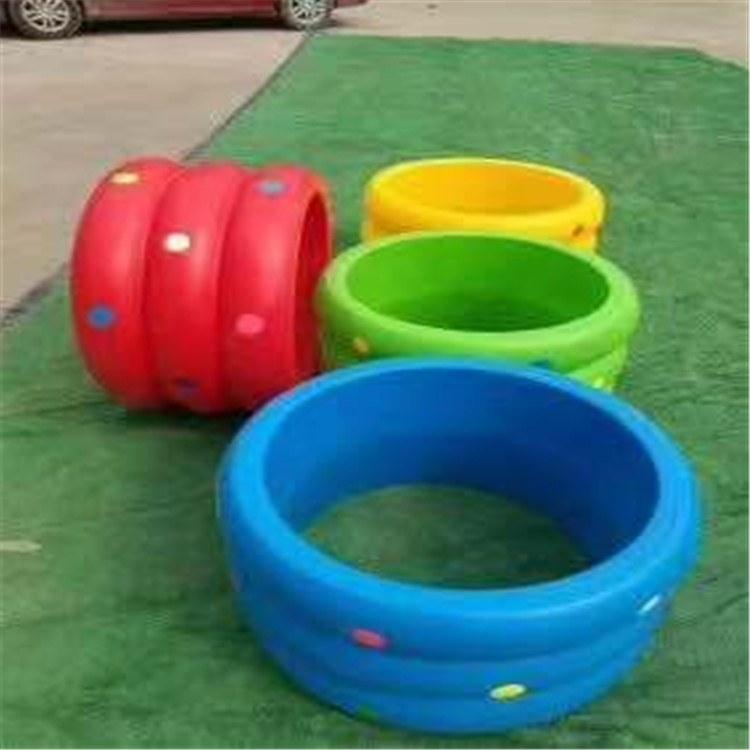 幼儿园玩具  儿童益智玩具儿童滚圈 四人龙车博康厂家