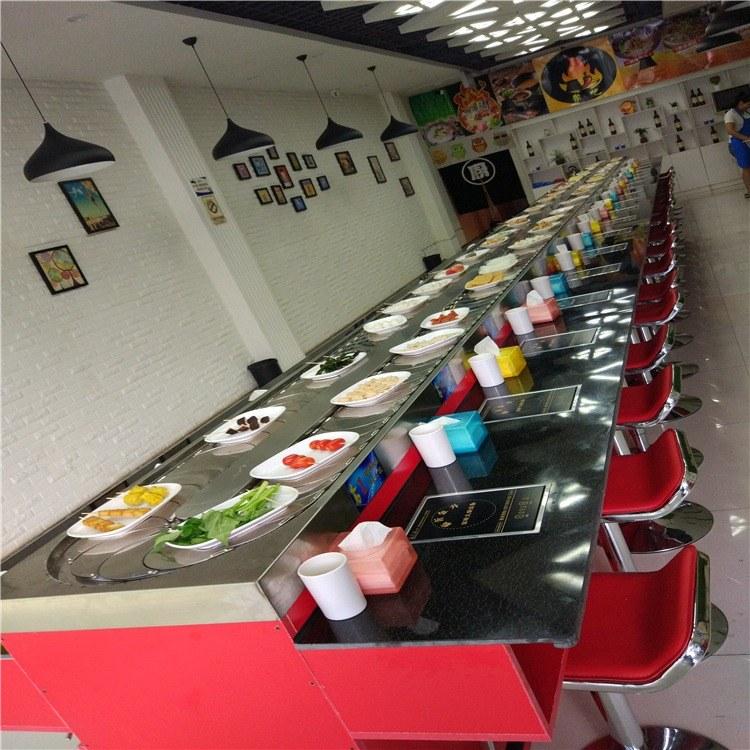 金升 厂家直销回转寿司台系列餐厅回转设备 旋转小火锅设备智能送餐