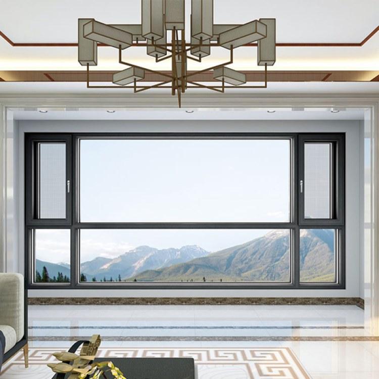 铝合金断桥门窗窗纱一体、 平开窗 隔热防尘阳台防盗窗 厂家定制