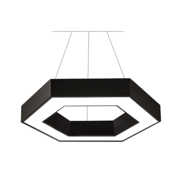 广东柯迅厂家定制直销 办公SMD吊灯 商业照明 六边形LED吊灯