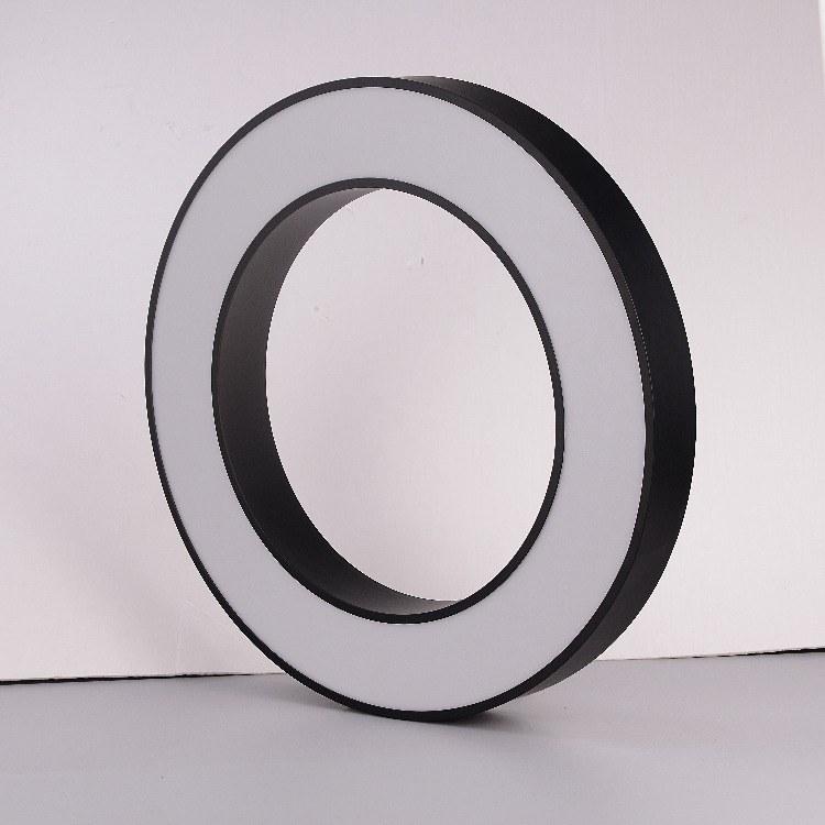 办公简约装饰吊灯 空-圆形LED吊灯 广东照明厂家定制 店铺照明