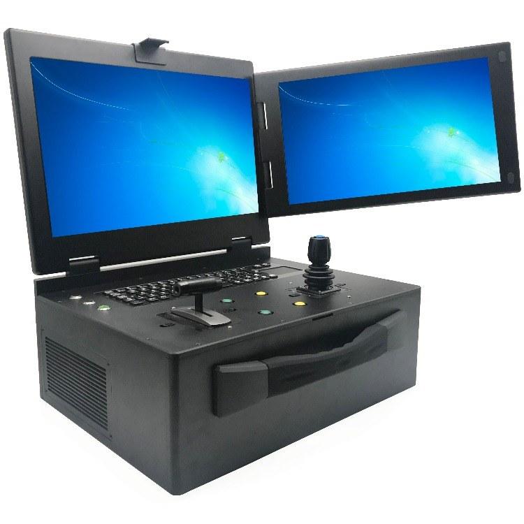 厂家直销全新双屏便携式工控机 双屏工控便携式机箱定制