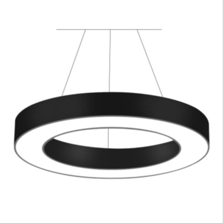 佛山空⼼圆形LED吊灯 装饰办公简约吊灯 柯迅照明厂家直销