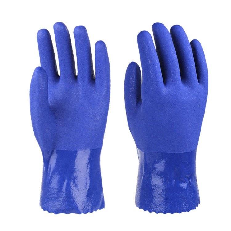 浸胶劳保手套乳胶耐磨压纹透气防滑防护手套车间工作劳保手套