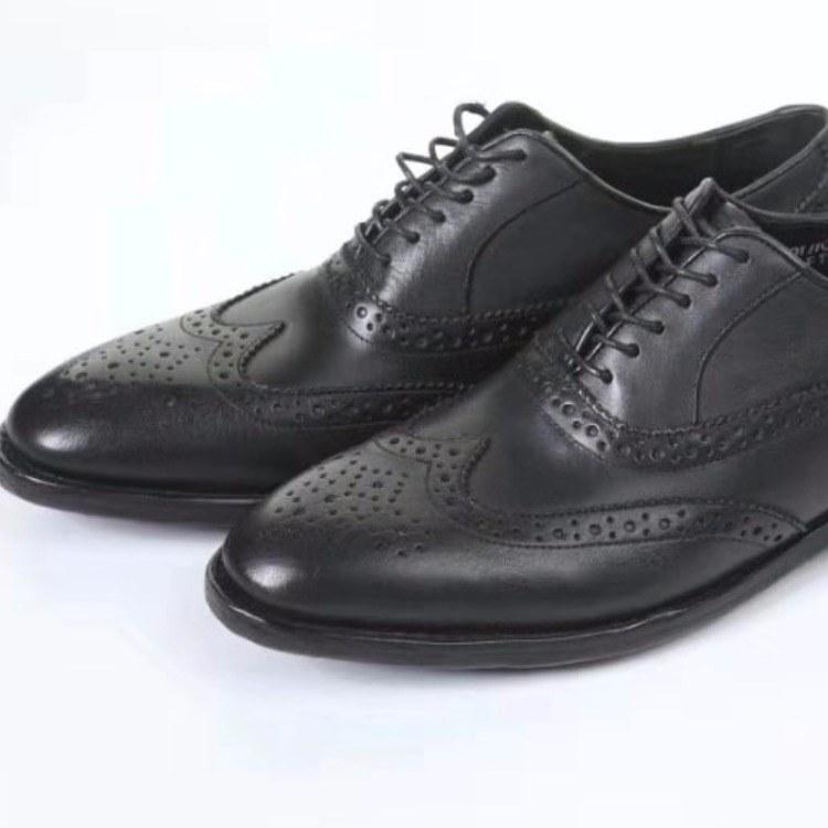 男鞋批发  全真面黑皮鞋 真皮底皮鞋厂家