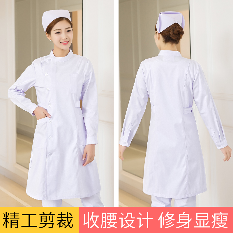湖南护士服长袖 冬装白大褂厂家直销