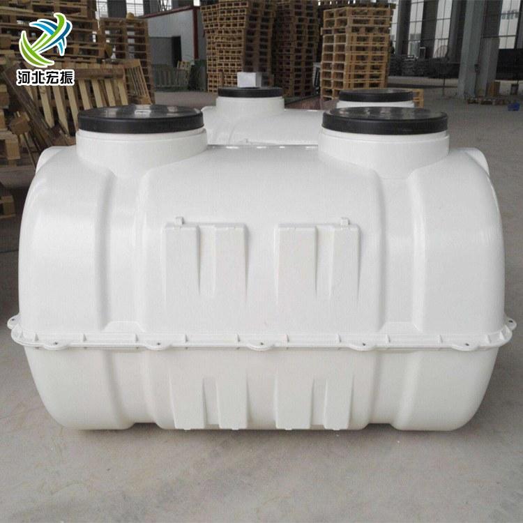 1.5立方2立方白色三格净化模压化粪池玻璃钢粪便池地埋隔油池直销