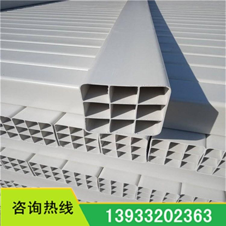 厂家生产 塑合金方管 单孔四孔九孔多孔格栅管 PVC通讯格栅管