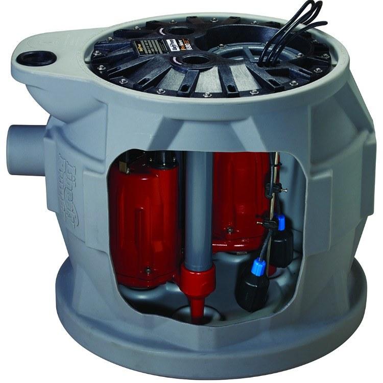 美国利佰特双泵研磨污水提升器   别墅 会所地下污水提升装置