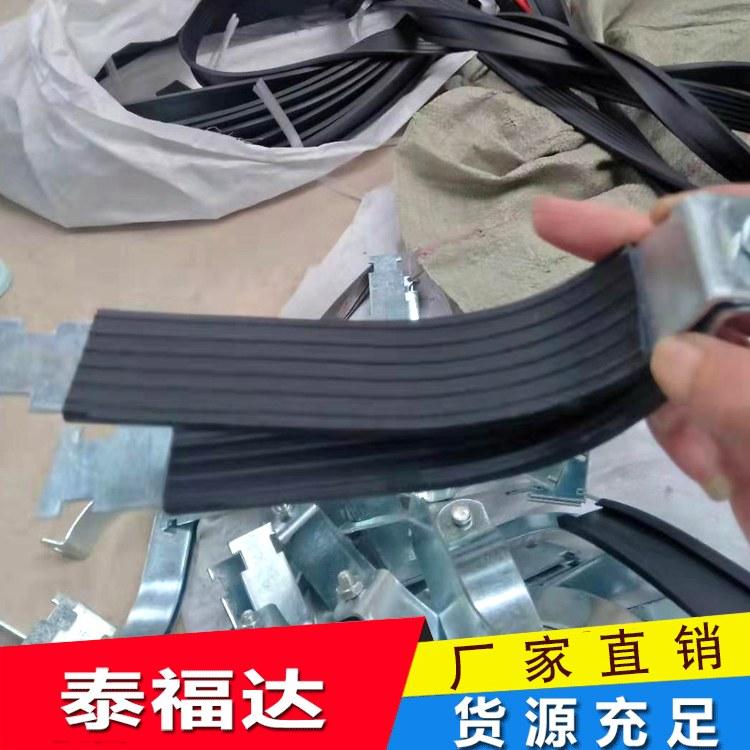泰福达厂家直销P型管束抗震支架配件C型钢管束槽钢抱箍规格齐全胶皮