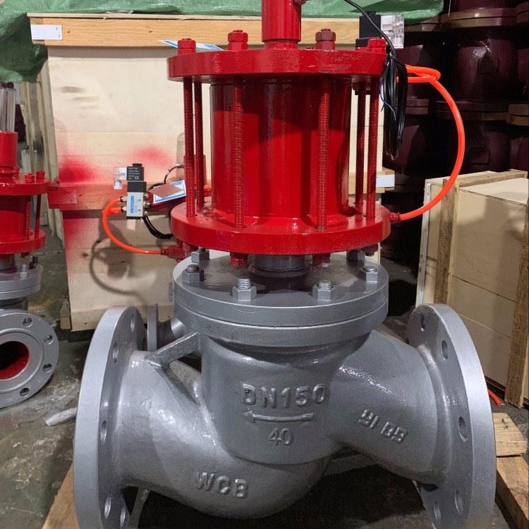 厂家直销 KYZJA-40C DN80气动程控阀电磁阀 气动程控阀截止阀