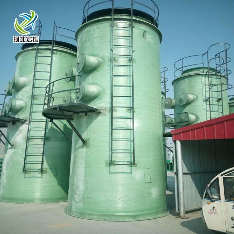 厂家定制酸雾净化塔脱硫塔 玻璃钢除尘器 玻璃钢酸雾喷淋塔