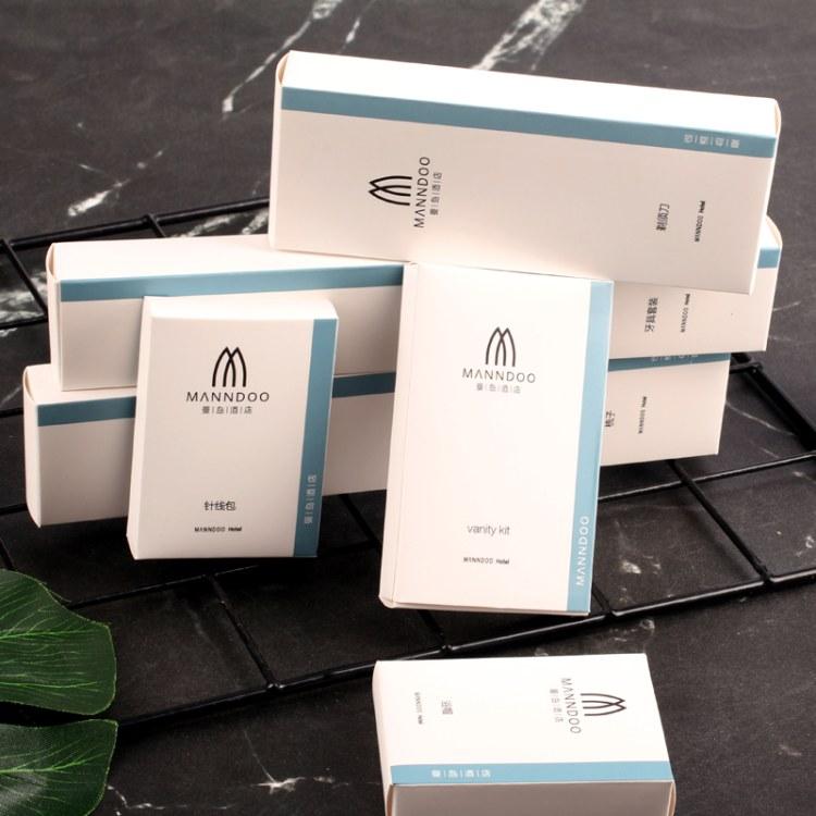 厂家批发生产 定制logo 酒店用品,宾馆民宿客房洗漱套装,一次性洗漱用品